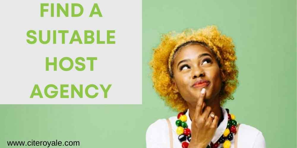 Find a suitable host agency