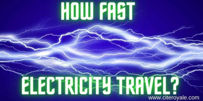 how fast electricity travel